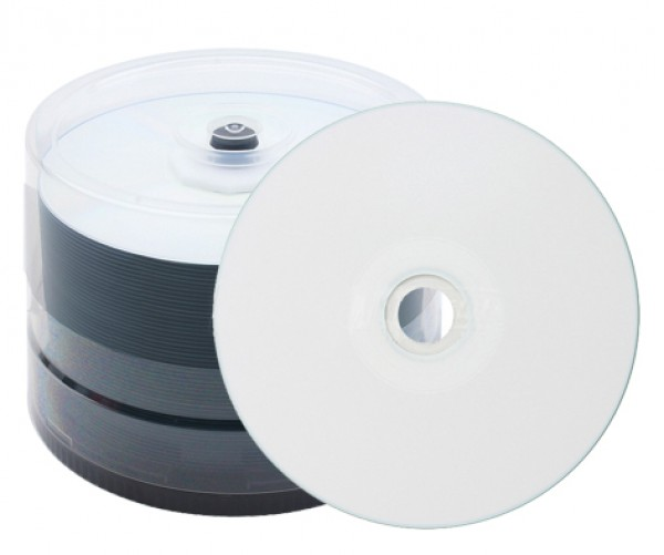 600 JVC (Taiyo Yuden) CD-R full printable watershield 80min 700MB 48x Spindel