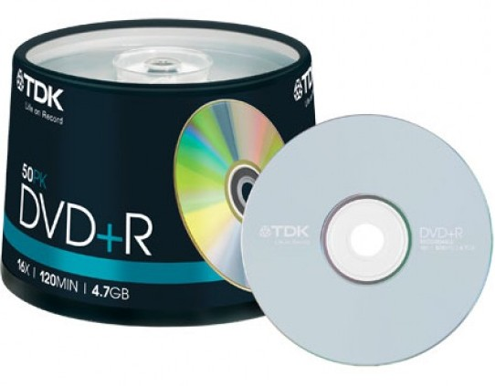 50 TDK DVD+R 4.7GB 120Min 16x Spindel