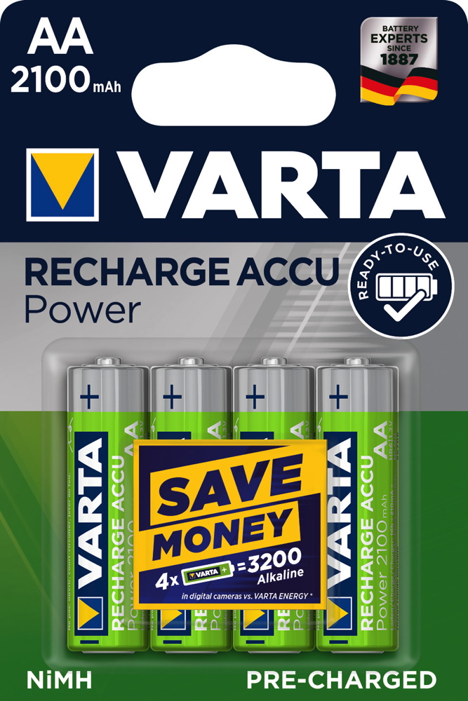 8 Varta 56706 Akku AA 2100mAh Ready To Use Nickel-Metall-Hydrid Blister