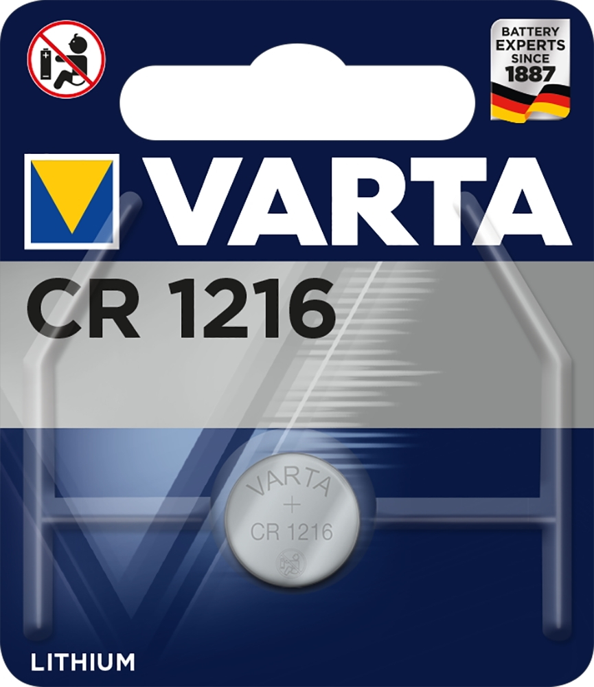 100 Varta 6216 Professional CR 1216 Lithium Knopfzelle Batterien Blister