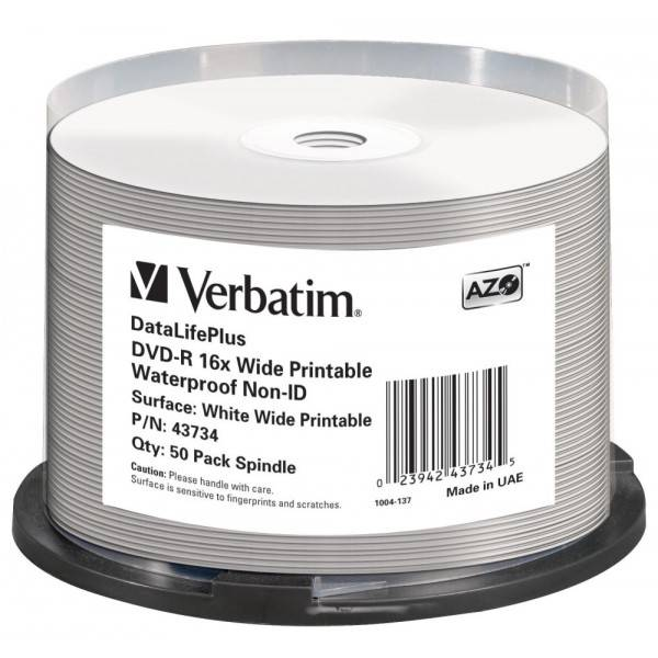 50 Verbatim DVD-R full water glossy