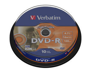 50 Verbatim DVD-R lightscribe 4.7GB 120Min 16x Spindel