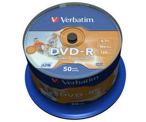 50 Verbatim DVD-R full printable