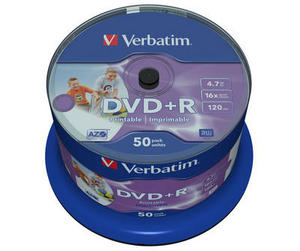 50 Verbatim DVD+R full printable