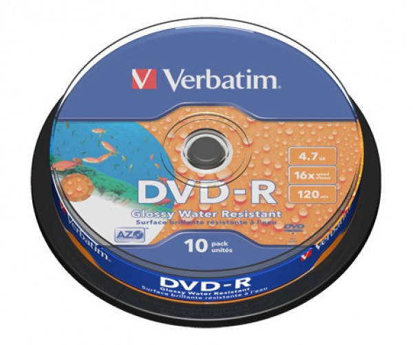 10 Verbatim DVD-R full waterproof