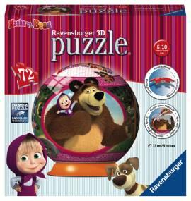 72 Teile Ravensburger 3D Puzzle Ball Mascha und der Bär 12178 - Bild vergrößern