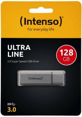 Intenso USB Stick 128GB Speicherstick Ultra Line silber USB 3.0 - Bild vergrößern