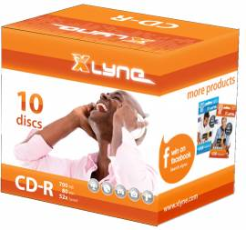 10 Xlyne Rohlinge CD-R 80Min 700MB 52x Jewelcase SONDERPOSTEN - Bild vergrößern