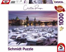 1000 Teile Schmidt Spiele Puzzle Christian Ringer Prag, Schwäne 59695 - Bild vergrößern