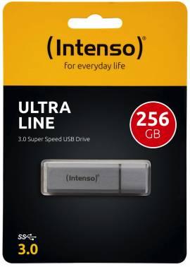 Intenso USB Stick 256GB Speicherstick Ultra Line silber USB 3.0 - Bild vergrößern