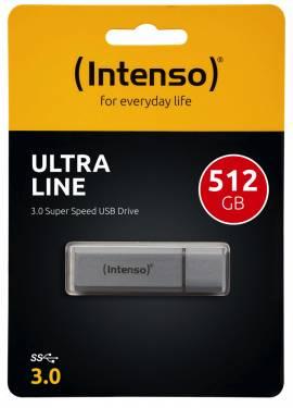 Intenso USB Stick 512GB Speicherstick Ultra Line silber USB 3.0 - Bild vergrößern
