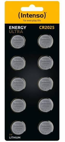 10 Intenso Energy Ultra CR 2025 Lithium Knopfzelle Batterien im 10er Blister - Bild vergrößern