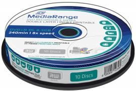 10 Mediarange Rohlinge DVD+R Double Layer full printable 8,5GB 8x Spindel - Bild vergrößern