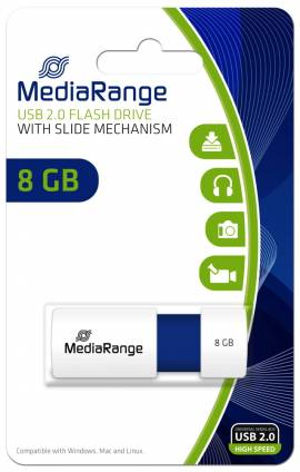 Mediarange USB Stick 8GB Speicherstick Color Edition blau - Bild vergrößern