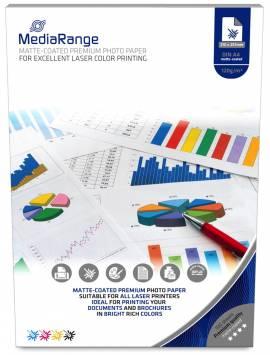 100 Mediarange Blatt Fotopapier DIN A4 Laser matt einseitig 120 g/m² - Bild vergrößern