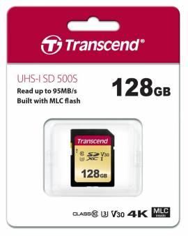 Transcend SDXC Karte 128GB Speicherkarte 500S UHS-I U3 4K V30 Class 10 - Bild vergrößern