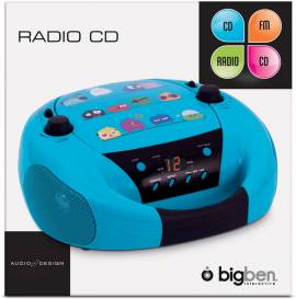bigben tragbarer cd player cd52 birds v gel mit fm radio. Black Bedroom Furniture Sets. Home Design Ideas