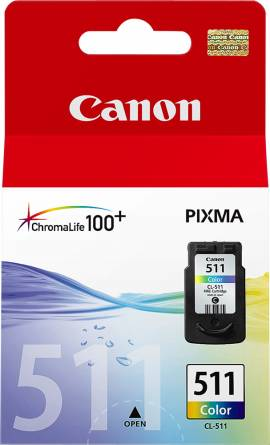 Canon Druckerpatrone Tinte CL-511 tri-color, dreifarbig - Bild vergrößern