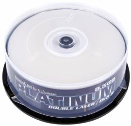 25 Platinum Rohlinge DVD+R Double Layer full printable 8,5GB 8x Spindel - Bild vergrößern