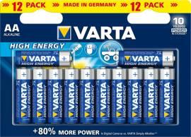12 Varta 4906 High Energy AA / Mignon Alkaline Batterien im 12er Blister - Bild vergrößern
