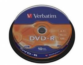 10 Verbatim Rohlinge DVD-R 4,7GB 16x Spindel - Bild vergrößern