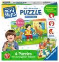 Ravensburger ministeps Spielzeug Puzzle Mein allererstes Puzzle Streichelzoo 04535