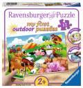 12 Teile Ravensburger Kinder Puzzle my first outdoor puzzles Liebe Bauernhoftiere 05609