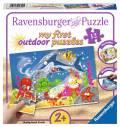 12 Teile Ravensburger Kinder Puzzle my first outdoor puzzles Abenteuer unter Wasser 05610