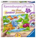 12 Teile Ravensburger Kinder Puzzle my first outdoor puzzles Dinosaurier Freunde 05611