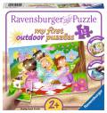 12 Teile Ravensburger Kinder Puzzle my first outdoor puzzles Süße Prinzessinnen 05612