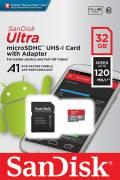 Sandisk Micro SDHC Karte 32GB Speicherkarte Ultra Android UHS-I U1 120 MB/s A1 Class 10