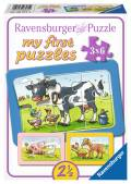 3 x 6 Teile Ravensburger Kinder Rahmen Puzzle my first puzzles Gute Tierfreunde 06571