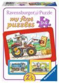 3 x 6 Teile Ravensburger Kinder Rahmen Puzzle my first puzzles Bagger, Traktor und Kipplader 06573