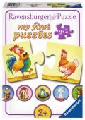 9 x 2 Teile Ravensburger Kinder Puzzle my first puzzles Viele Gegensätze 06888
