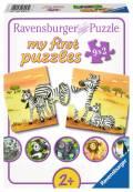 9 x 2 Teile Ravensburger Kinder Puzzle my first puzzles Süße Tierfamilien 06943