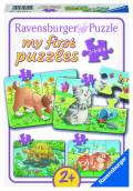 2, 4, 6, 8 Teile Ravensburger Kinder Puzzle my first puzzles Niedliche Haustiere 06951