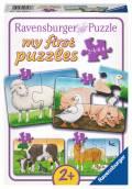 2, 4, 6, 8 Teile Ravensburger Kinder Puzzle my first puzzles Liebenswerte Bauernhoftiere 06953