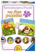 9 x 2 Teile Ravensburger Kinder Puzzle my first puzzles Liebenswerte Tiere 07331