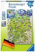 150 Teile Ravensburger Kinder Puzzle XXL Meine Deutschlandkarte 10049
