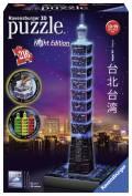216 Teile Ravensburger 3D Puzzle Bauwerk Taipei 101 bei Nacht 11149