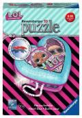 54 Teile Ravensburger 3D Puzzle Herzschatulle L.O.L. Surprice! 11164