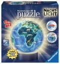 72 Teile Ravensburger 3D Puzzle Ball Nachtlicht Erde im Nachtdesign 11844