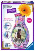 216 Teile Ravensburger 3D Puzzle Girly Girl Edition Blumenvase Pferde 12052