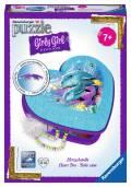 54 Teile Ravensburger 3D Puzzle Girly Girl Edition Herzschatulle Unterwasserwelt 12118