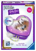 54 Teile Ravensburger 3D Puzzle Girly Girl Edition Herzschatulle Pferde 12119