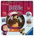72 Teile Ravensburger 3D Puzzle Ball Mascha und der Bär 12178