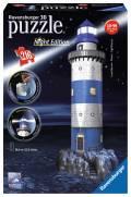 216 Teile Ravensburger 3D Puzzle Bauwerk Leuchtturm bei Nacht 12577