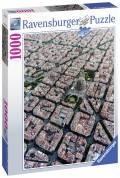 1000 Teile Ravensburger Puzzle Barcelona von Oben 15187