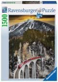 1500 Teile Ravensburger Puzzle Winterliche Schlucht 16358