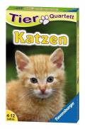 32 Blatt Ravensburger Kinder Kartenspiel Tier Quartette Katzen 20421